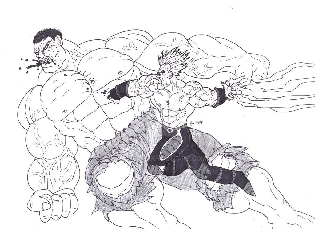 Hulk Vs Saiyan 2014 by Bender18