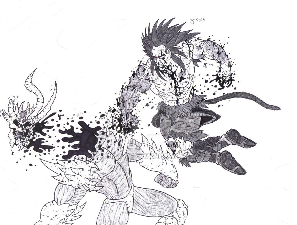 Goku Ssj4 Stage 2 2014 By Bender18 On Deviantart