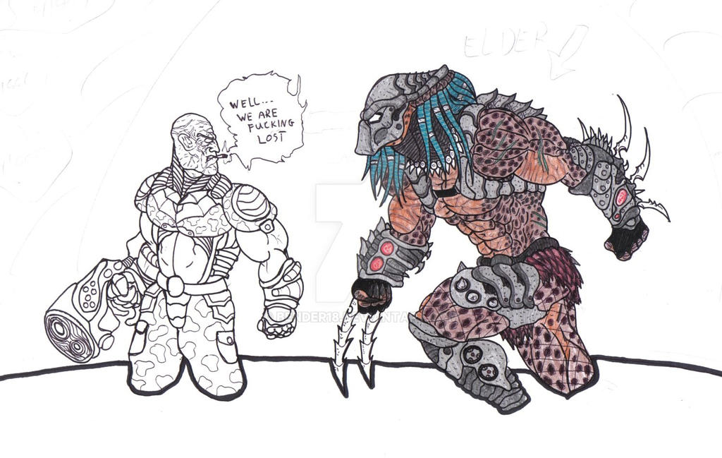Alien vs Predator Coloring Fail 1 by Bender18 on DeviantArt