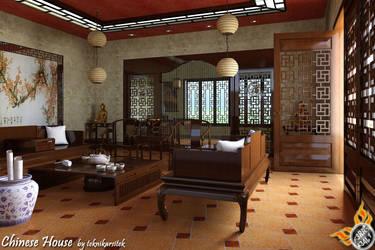 Chinese Living Room by teknikarsitek