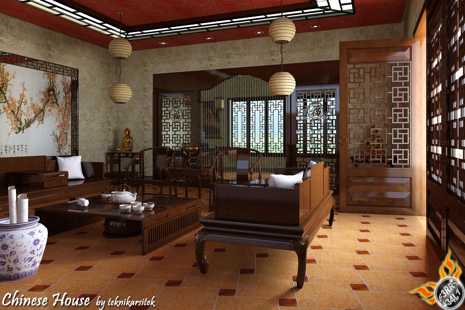 Chinese Living Room Chinese Living Roomteknikarsitek On Deviantart