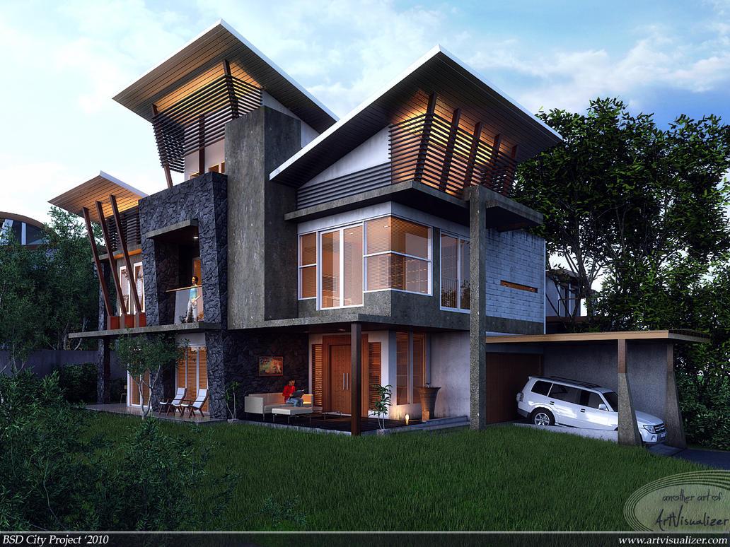 Bsd City House Indonesia By Teknikarsitek On Deviantart
