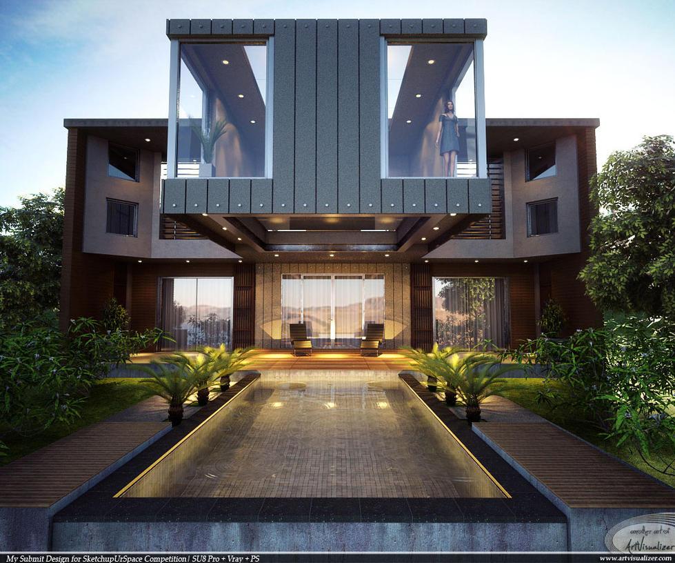 A conceptual house by teknikarsitek on DeviantArt