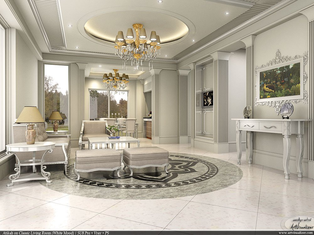 classic interior design ideas for living rooms classic living room sketchup 2 by teknikarsitek on deviantart 27837