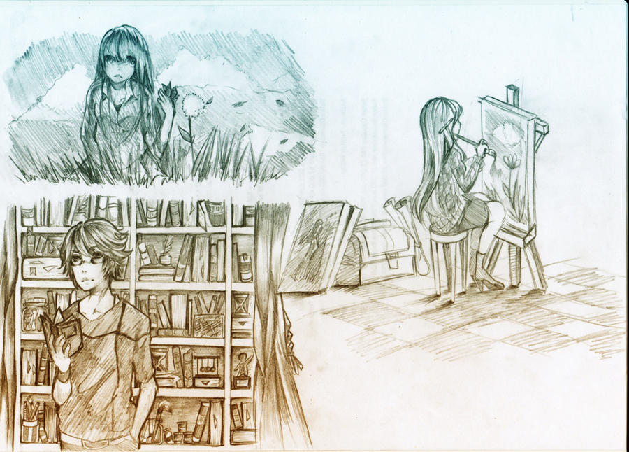 Old Sketches by Qin-Ying