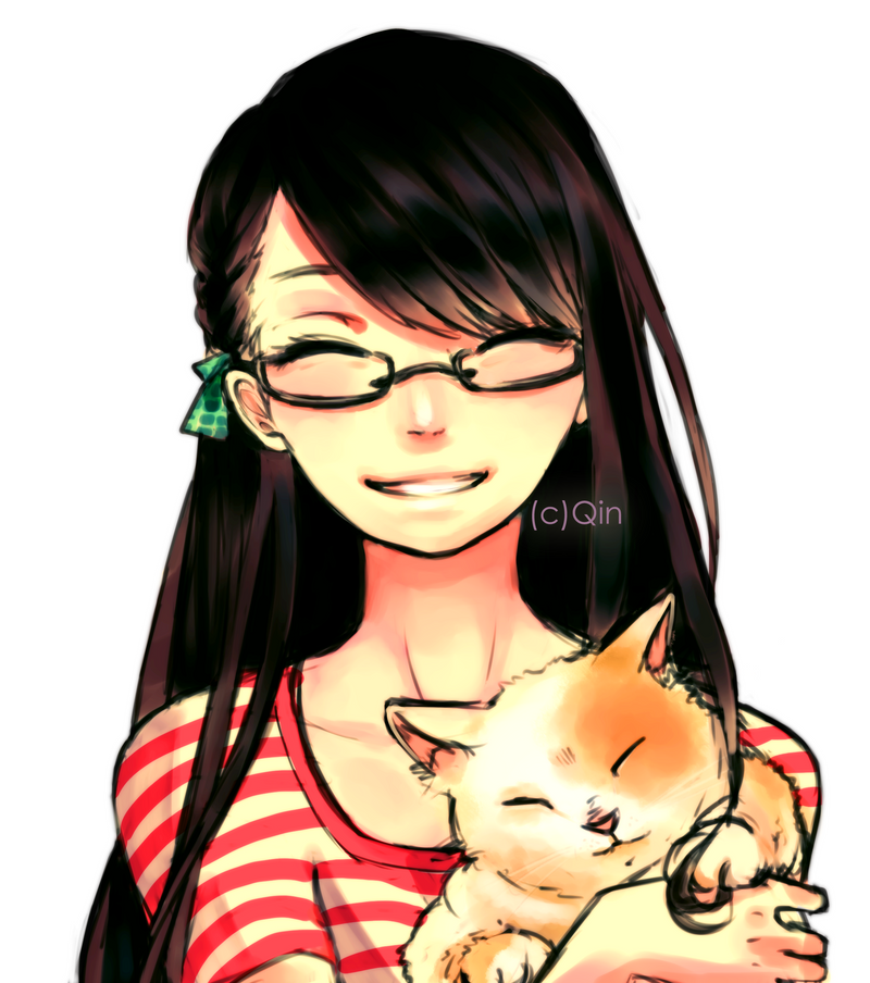 Smiles and Kitties by Qin-Ying
