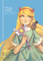 Star Butterfly (+Speedpaint) by Qin-Ying
