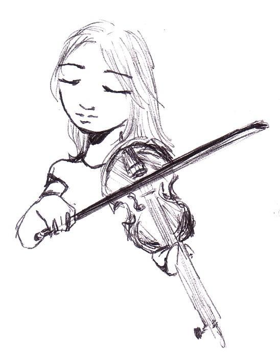 Violin sketch by linglei on DeviantArt