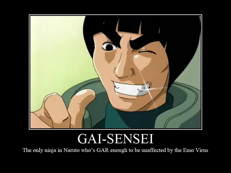 Mot poster gai sensei by theotakubrigade on deviantart for Gai sensei 8 portes