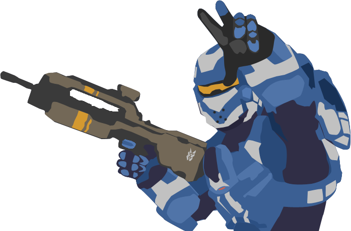 halo 4 blue spartan vector by iprotiige on deviantart