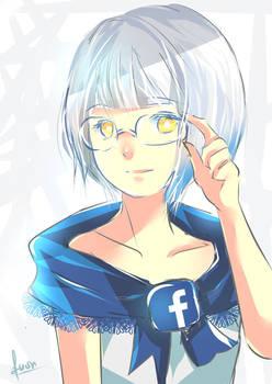 Lady Facebook