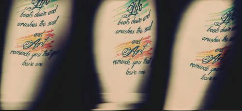 Tattoo Scan Triptych