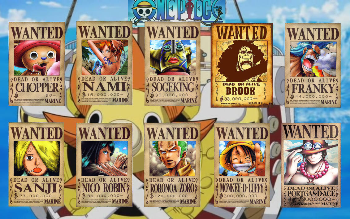 straw hat wanted posters the new straw hat pirates wanted posters