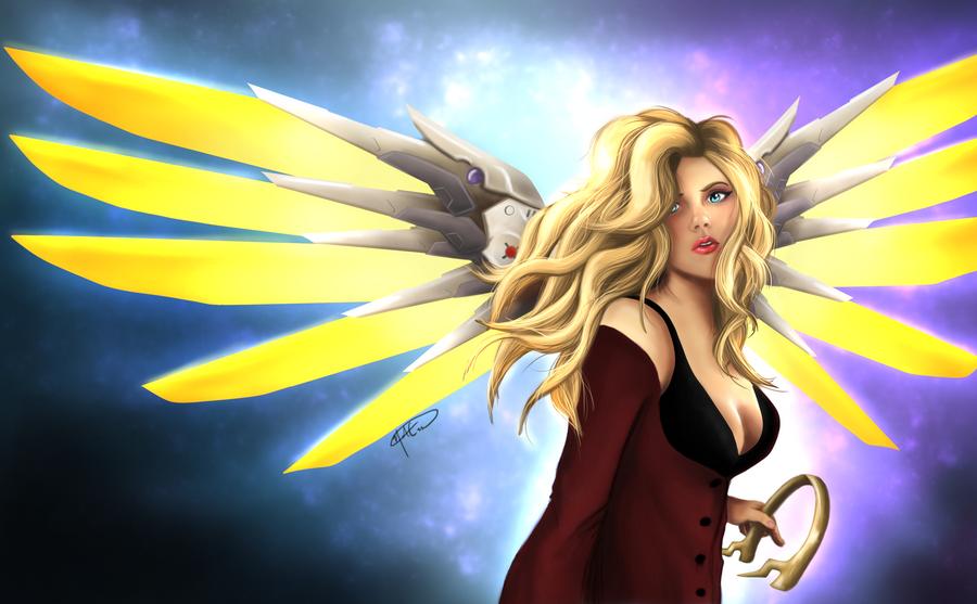Mercy Unarmoured by NikasoArt
