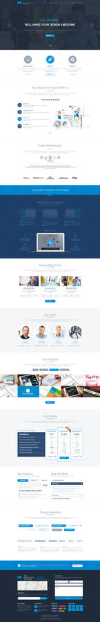 Marjan One Page PSD Template