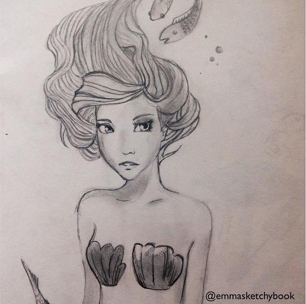 Mermaid by pineapplepencil