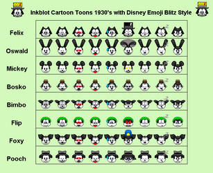 Inkblot 1930's Toon with Emoji Blitz Style Part 1 by CrowSar