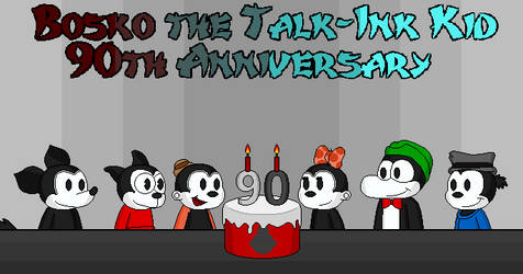 Bosko the Talk-Ink Kid 90th Anniversary by CrowSar