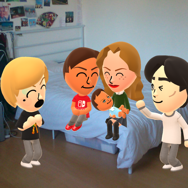 some my mii characters came to see our new baby by yungdeez