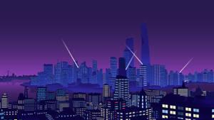 Cyberpunk Cityscape by Retrograde-art