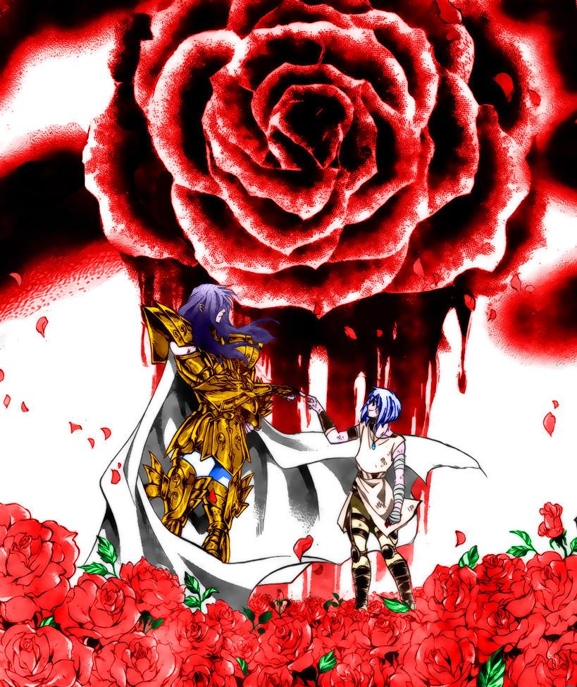 Manga Gaiden Albafika de Piscis Lugonis_and_albafica_by_kanomaru-d458rfr