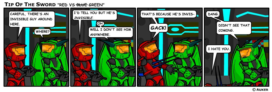 Red vs Blue, No, Green
