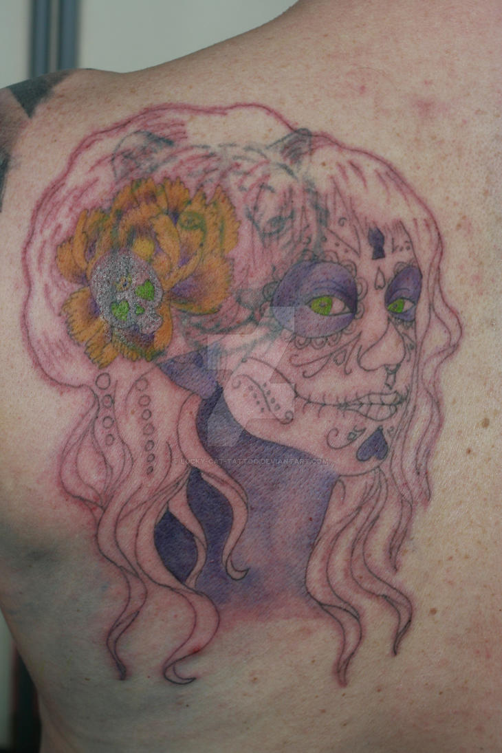 Day Of The Dead Wip 1 By Lucky Cat Tattoo On Deviantart