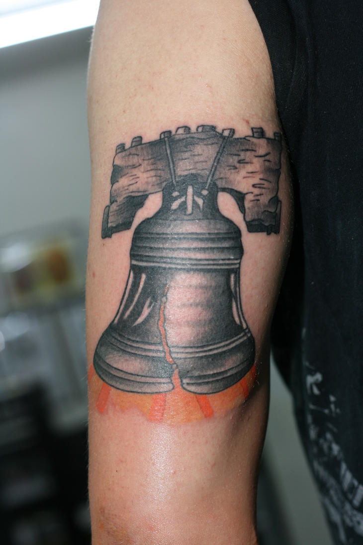Liberty Bell Tricep by LuckyCatTattoo on deviantART