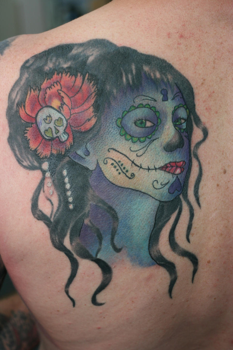 Day Of The Dead Cover Finished By Lucky Cat Tattoo On Deviantart
