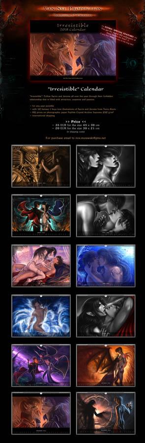 SALE! 'Irresistible' Fantasy Boys Love Calendar