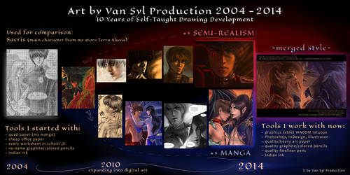 10 Years of Self-Taught Drawing Development by Van-Syl-Production