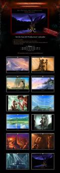 SALE! 'Art by VSP' Fantasy Concept Art Calendar by Van-Syl-Production