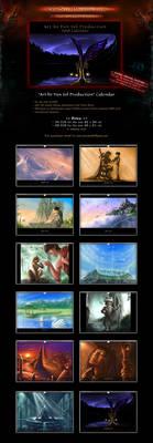 SALE! 'Art by VSP' Fantasy Concept Art Calendar