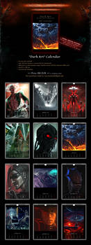 SALE! 'Dark Art by VSP' Sci-Fi Fantasy Calendar by Van-Syl-Production