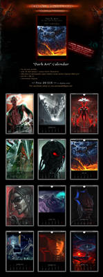 SALE! 'Dark Art by VSP' Sci-Fi Fantasy Calendar