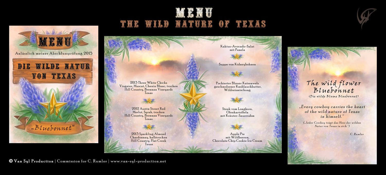 Commission: Bluebonnet Texas Menu