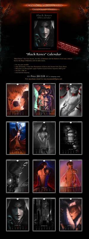 SALE! 'Black Roses' BDSM Yaoi Fantasy Calendar