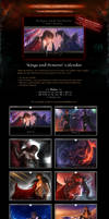 SALE! 'Kings and Demons' Fantasy BL Calendar by Van-Syl-Production