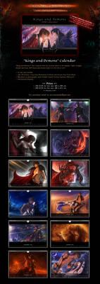 SALE! 'Kings and Demons' Fantasy BL Calendar