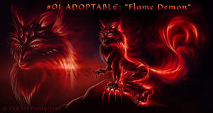 #01 ADOPTABLE: 'Flame Demon' [OPEN]