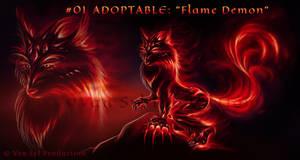 #01 ADOPTABLE: 'Flame Demon' [OPEN]