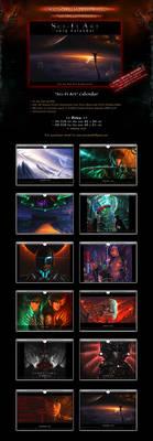 SALE! Calendar 'Sci-Fi Art' with Concept Art by Van-Syl-Production