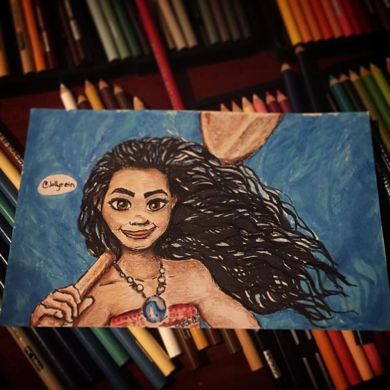 Moana (Color Pencils) by jollyrein