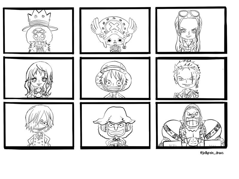One Piece - Straw Hat Pirates Collage by jollyrein