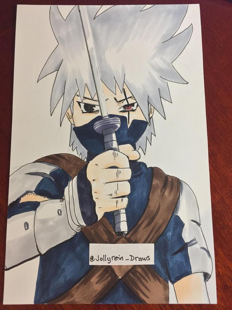 Kid Kakashi- Naruto Shippuden  - Copics by jollyrein