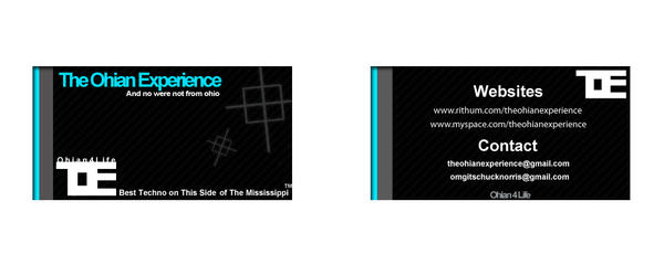 toe business card