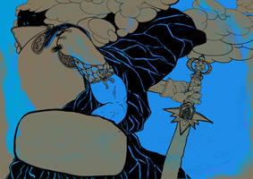 blue warrior by Zzoha