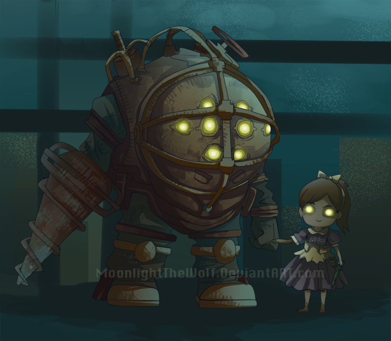 Bioshock big daddy and little sister art pictures to pin for Big daddy s antiques