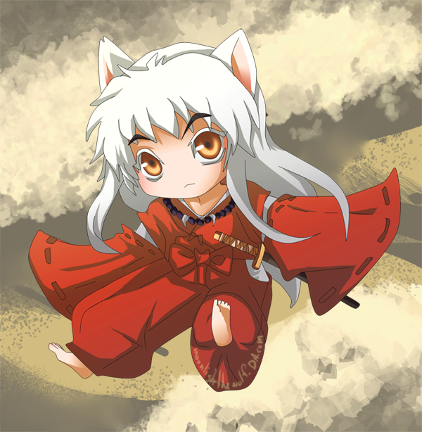 Chibi Inuyasha By MoonlightTheWolf