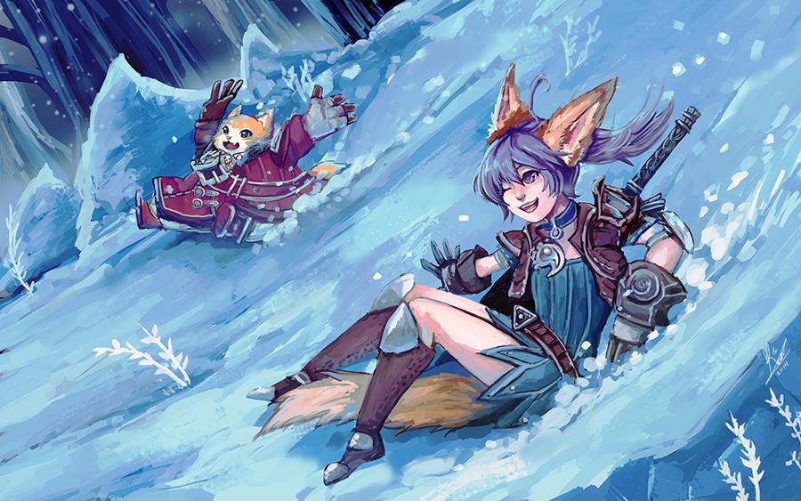 Tera: Winter Fun by MoonlightTheWolf